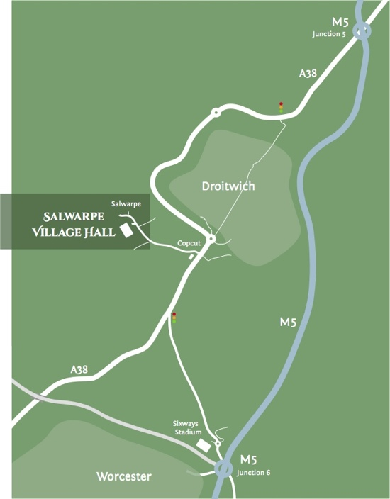 map for Salwarpe Village Hall